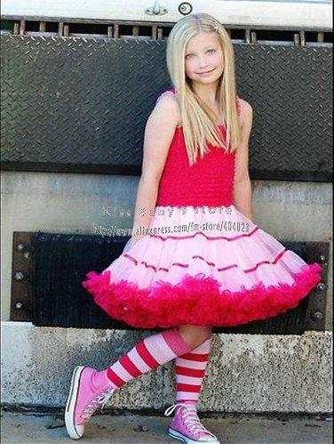 Black   Dress on Girls  Lovely Princess Skirt Girls  Beautiful Red And Black Pettiskirt