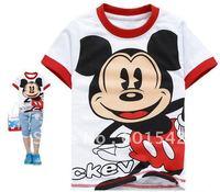 Футболка для мальчиков Summer Short Sleeve Winnie the Pooh T-shirt children's Cartoon t-shirt 2 to 8years old 0752