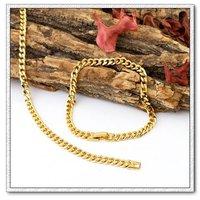 Pulsera de moda de la cadena, de cobre con oro 18k pulsera, cadena y pulsera de Enlace, envío gratis (China (continental))