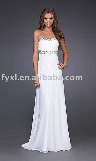 White Simple Wedding Dress - Ocodea.com