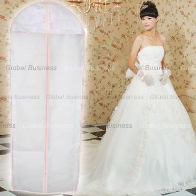 Bridal wedding dress ball gown garment fabric storage bag for Wedding dress garment bag for air travel