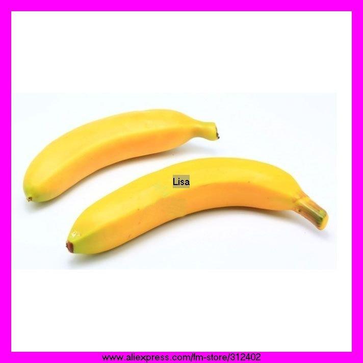 High simulation Fruits Artificial Fruits yellow banana Wedding Festival