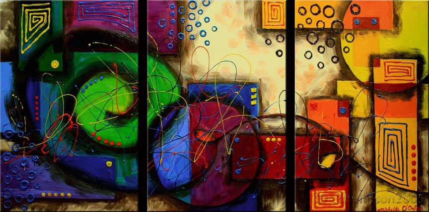 Framed modern abstract huge canvas art oil painting large art eg3 010