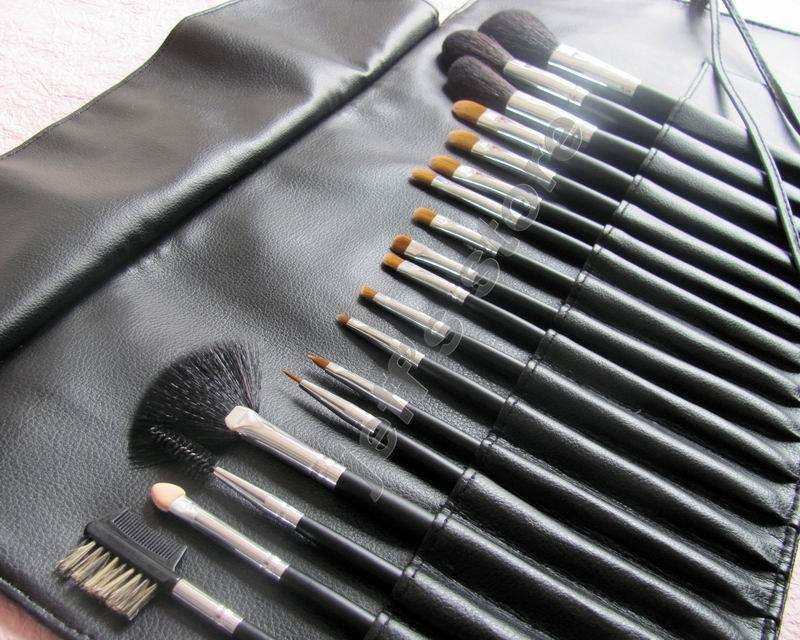Pcs black makeup brush set cosmetic brushes kit us us piece Formal event makeup