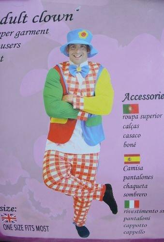 Adult Clownupper garnent trousers coat hatstage magicmagic propsmagic