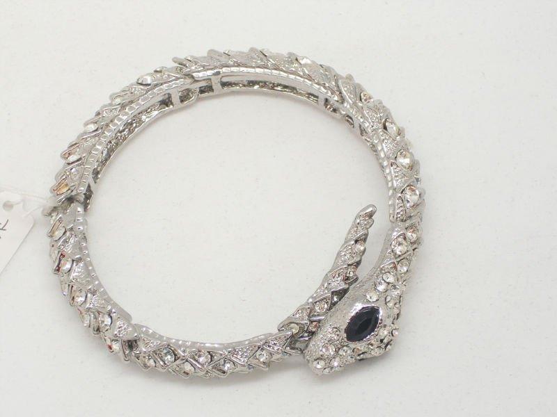 free shipping Wholesale accept paypal 5pcs min order alloy snake crystal bracelet