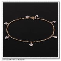Moda corazón y pulsera de clave, con la pulsera de cobre chapado en oro de 18 quilates, Gastos de envío gratis (China (continental))