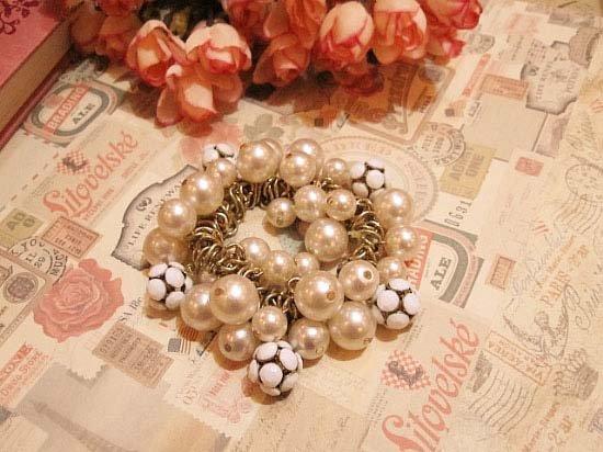 free shipping Wholesale accept paypal 10pcs min order pearl alloy ball bangle