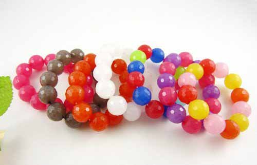 free shipping Wholesale accept paypal 5pcs min order colorful candy ball bangle