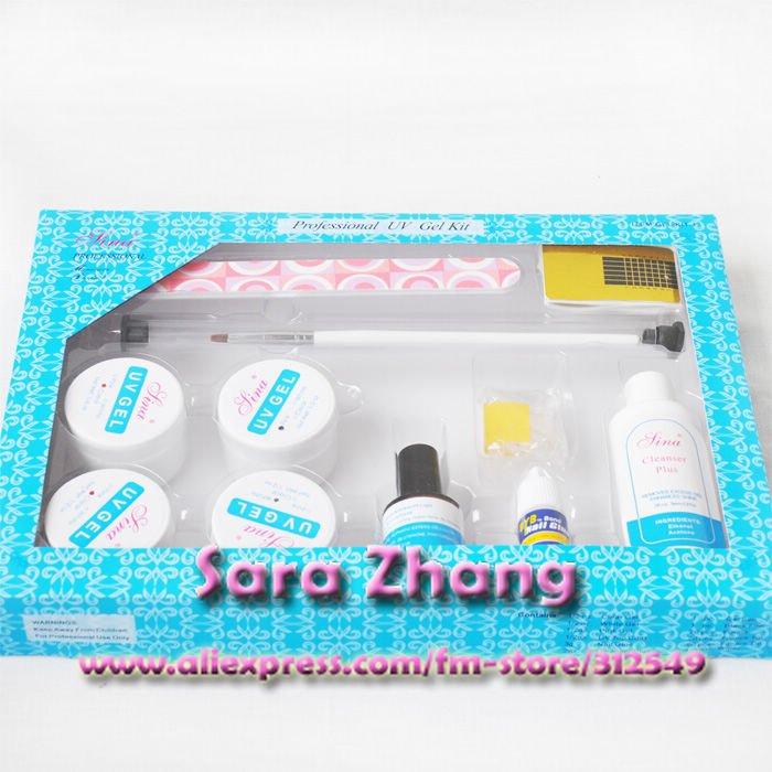 Nail Art Acrylic UV GEL Pen Glue File Top Coat Kit /Uv gel kits/ Nail