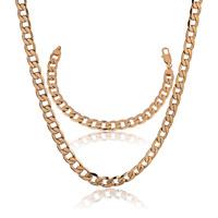 Moda perla conjunto de joyas de cobre con oro 18k, la configuración de bisutería, colgante y pendientes (twinset), un collar gratis (China (continental))