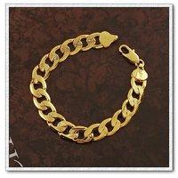 Cadena de moda pulsera, brazalete de cobre con oro 18k, Link y la cadena de pulsera, envío gratis (China (continental))