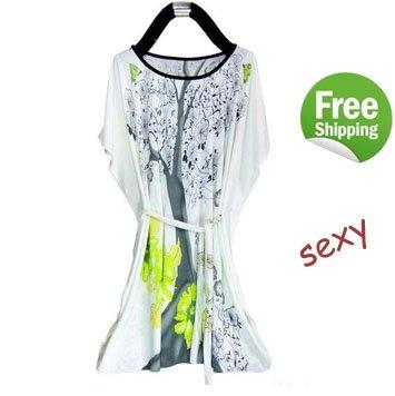 Girls Dress Patterns Free on Pattern Printing Dress Women S Lady Dress Batwing Plus Size Dress Free