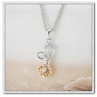 Collar libre, moda colgante collar de cobre con platinado envío, gratis (China (continental))