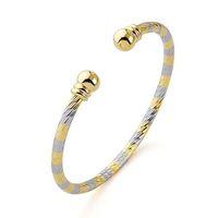 Pulsera de moda, con pulseras de cobre chapado en oro de 18 quilates, pulsera de color doble, envío gratis (China (continental))