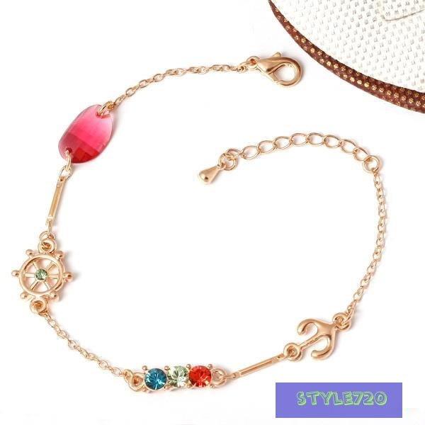 free shipping Wholesale accept paypal 10pcs min order blue crystal gold bangle