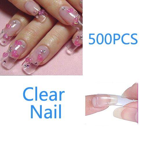 Gel Nails Clear Tips Clear uv False Tips 4 Gel