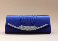 Вечерняя сумка Grey Fashion crystal rhinestones Satin Bridal Evening bag