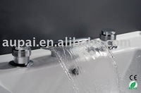 Смесители для ванной и душа Stainless Steel Spout, Deck Mounted Chrome Waterfall Bathtub Mixer