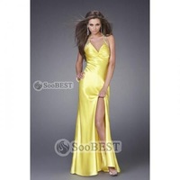 Платье для подружки невесты A-line Princess Strapless Miniskirt Satin Chiffon Bridesmaid Dress #161859