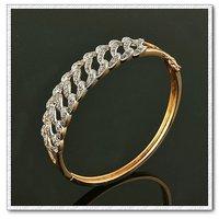 CZ Pulsera de moda, con pulseras de cobre chapado en oro de 18 quilates, joyas zirconia pulsera, envío gratis (China (continental))