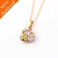 Collar libre, moda colgante collar de cobre con platinado pendiente, forma de corazón, envío gratis (China (continental))