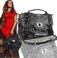 Сумка 2011 lady's casual handbag/shoulder bag, fashion handbag pu leather handbag messenger bag postman bag 2 color