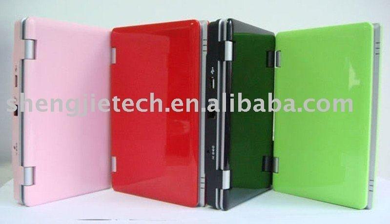 Windows CE system 7'' portable laptop, Pocket netbook computer, mini notebook mini computer, ...