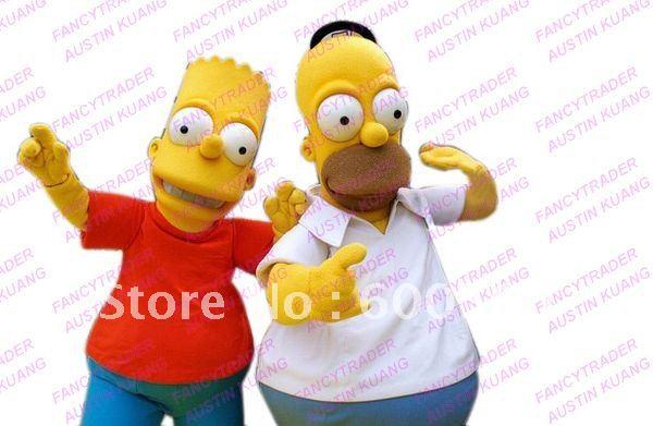 Top Selling Bart Simpsons Mascot Costume Bart Mascot Costume Free Sample FT20092