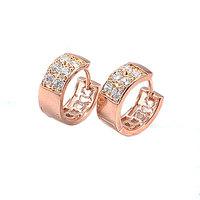 Pendientes de aro de piedras preciosas, cobre, con pendientes de oro de 18 quilates CZ, Gastos de envío gratis (China (continental))