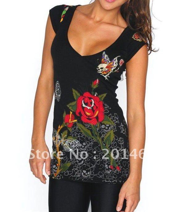 2011 new type men tattoo t shirt short sleeve 10pcs lot for Tattoo sleeve shirts for women