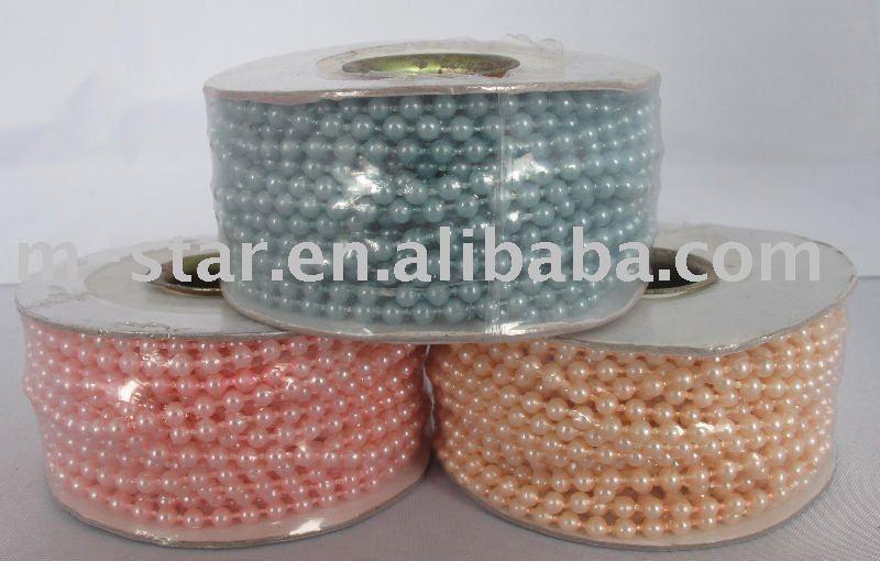 10Yard Red 3mm Wedding Pearl Bead Rope Garland US 061 US 061 piece