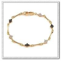 Moda CZ pulsera, brazalete de cobre con oro de 18 quilates CZ, pulsera del encanto, Gastos de envío gratis (China (continental))