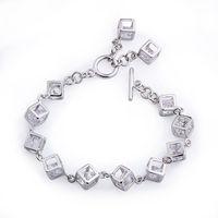 Corazón de la moda forma joyas pulsera, brazalete de cobre con platinado, pulsera del encanto, Gastos de envío gratis (China (continental))