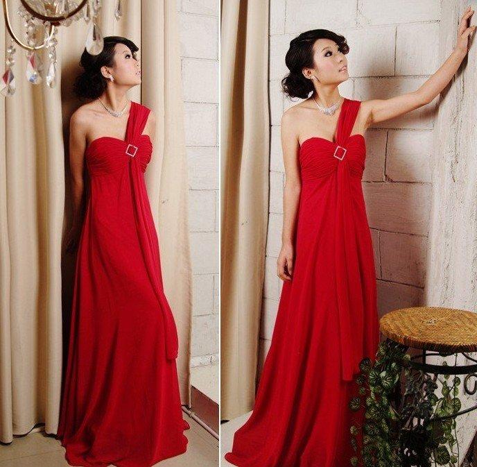 New 2011 Greek goddess marriage gauze of red 234 of her wedding dress