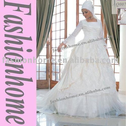Free shipping Arabic wedding dress Muslim wedding gown Islamic bridal dress