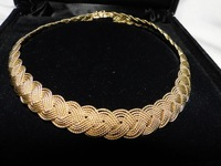 100% GenuineNew A.G.A. Correa & Son 18KT Yellow Gold Handwoven Necklace Free Shipping, Gold Necklace,Gold Chain,Gold Jewelry(China (Mainland))