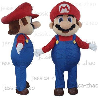 New super mario Mascot Costume Halloween gift costume characters sex dress ...