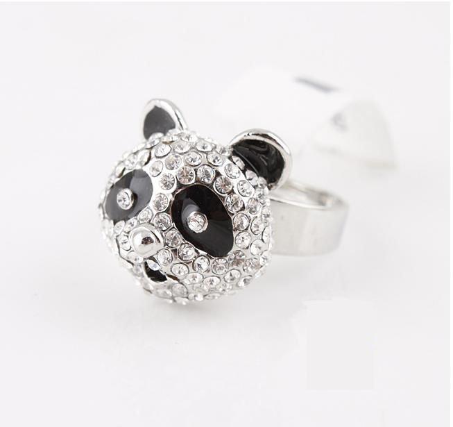 Free sample panda rings animal finger rings zircon rhinestone jewellery  Love Jewelry fashiona ...