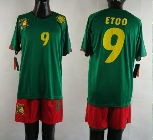 Cameroon Soccer Jerseys #9 green Cameroon football Jersey Ghana National team soccer jersey 2010 ...