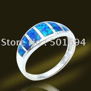 Blue Fire Opal And Diamond Ring Blue fire opal engagement