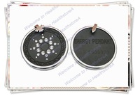 SP-005b hollow lace rhinestones scalar energy pendants with protector(China (Mainland))