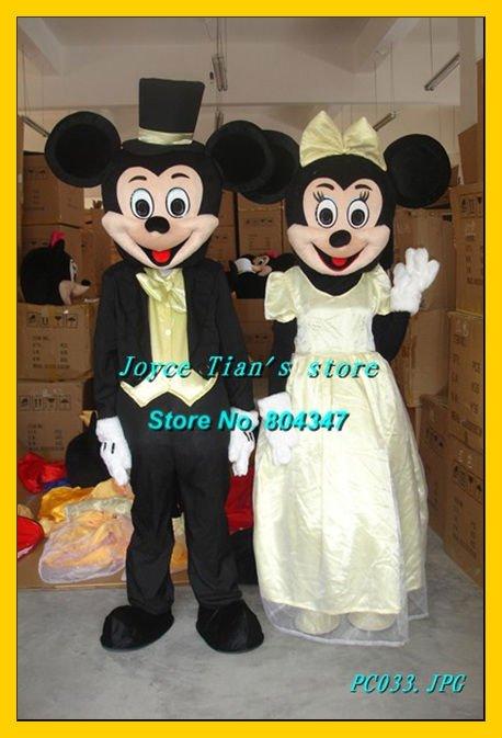 2011 Newest Version Light Mickey Minnie mouse mascot costume Cartoon Mascot ...