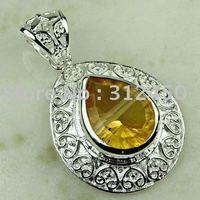 Moda Suppry joyería de plata hechos a mano de piedras preciosas joyas topacio místico libre LP0338 de envío (China (continental))