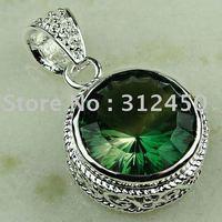 Wholeasle joyería de plata de moda hechos a mano de piedras preciosas topacio místico envío joyas gratis LP0345 (China (continental))