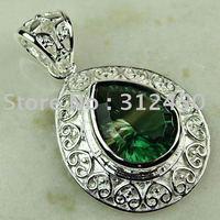 Wholeasle joyería de plata de moda hechos a mano de piedras preciosas joyas topacio místico libre LP0331 de envío (China (continental))