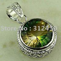 Wholeasle joyería de plata de moda hechos a mano de piedras preciosas topacio místico envío joyas gratis LP0350 (China (continental))