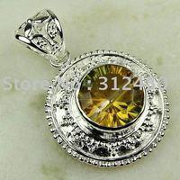 Wholeasle joyería de plata de moda hechos a mano de piedras preciosas topacio místico envío joyas gratis LP0328 (China (continental))