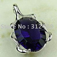 Wholeasle joyería de plata de moda hechos a mano de piedras preciosas joyas de amatista libre LP0333 de envío (China (continental))