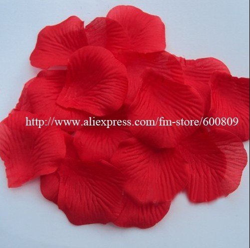 Great Price1kg 7600 pcs Red Silk Rose Petals for wedding party Flower